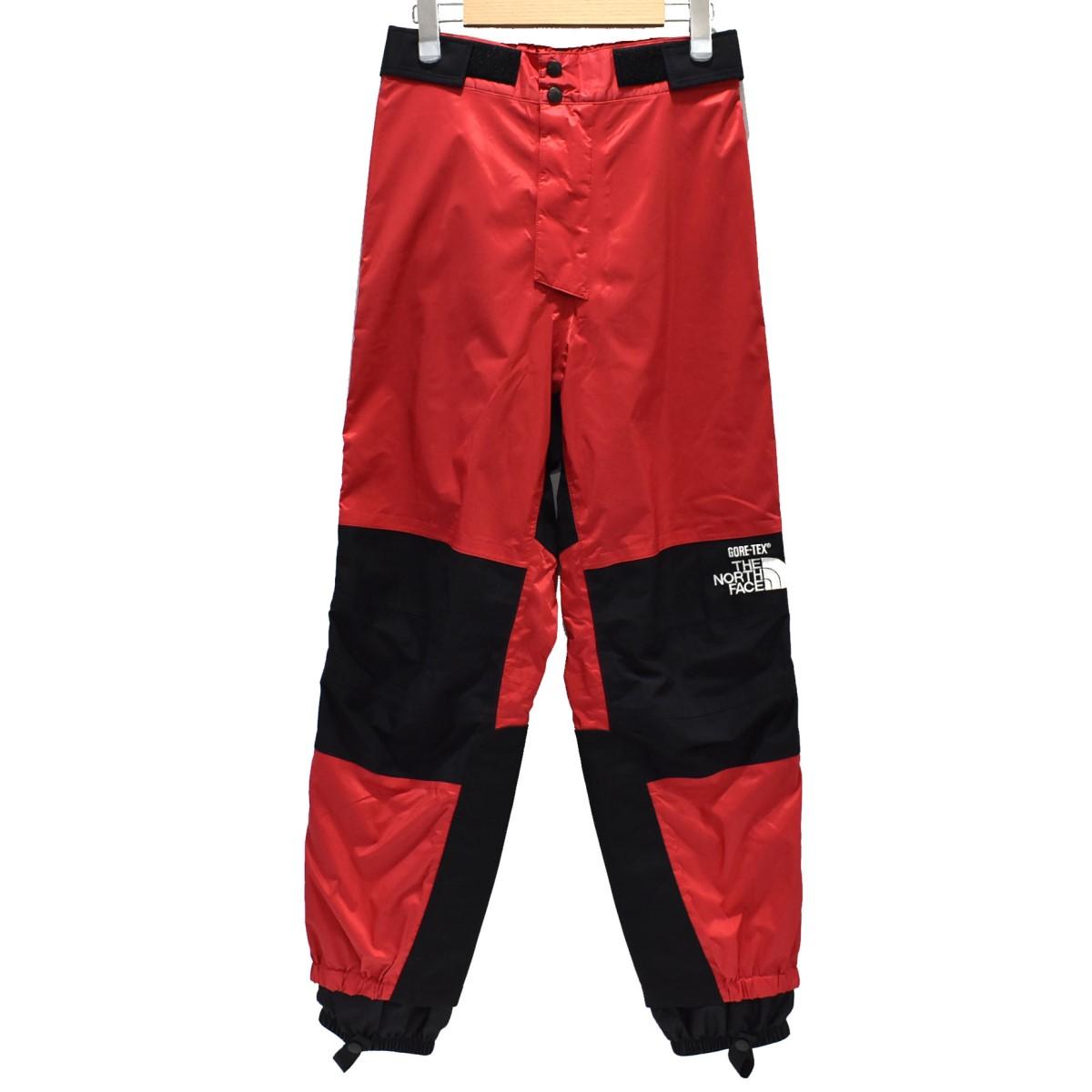 【中古】THE NORTH FACE 90S GORE TEX Mountain Pants マウンテンパンツ ブラック×レッド サイズ:S 【040520】(ザノースフェイス)