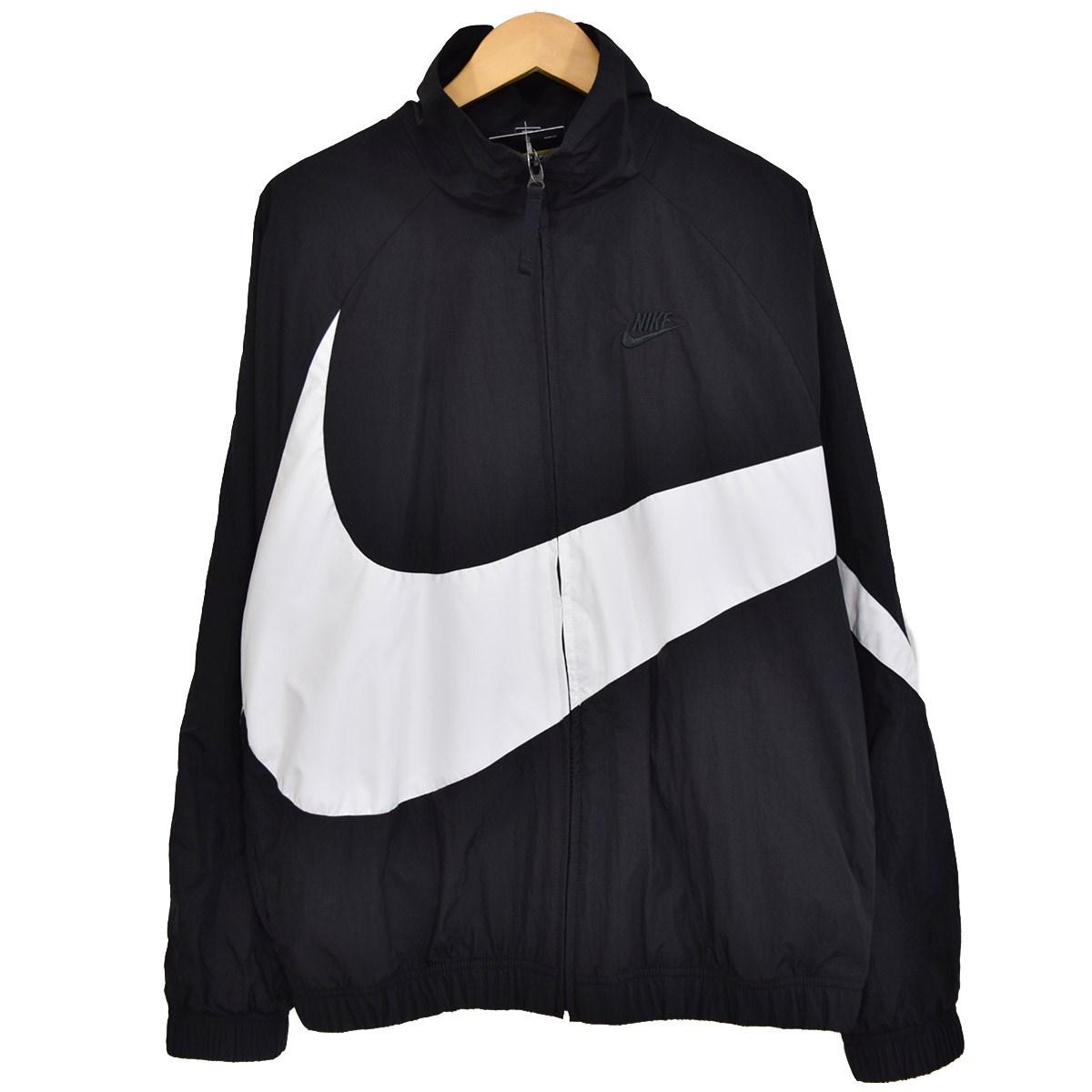 【中古】NIKE HBR STMT WOVEN JACKET ジップジャケット 2019SS AR3133-010 ブラック×ホワイト サイズ:S 【040520】(ナイキ)