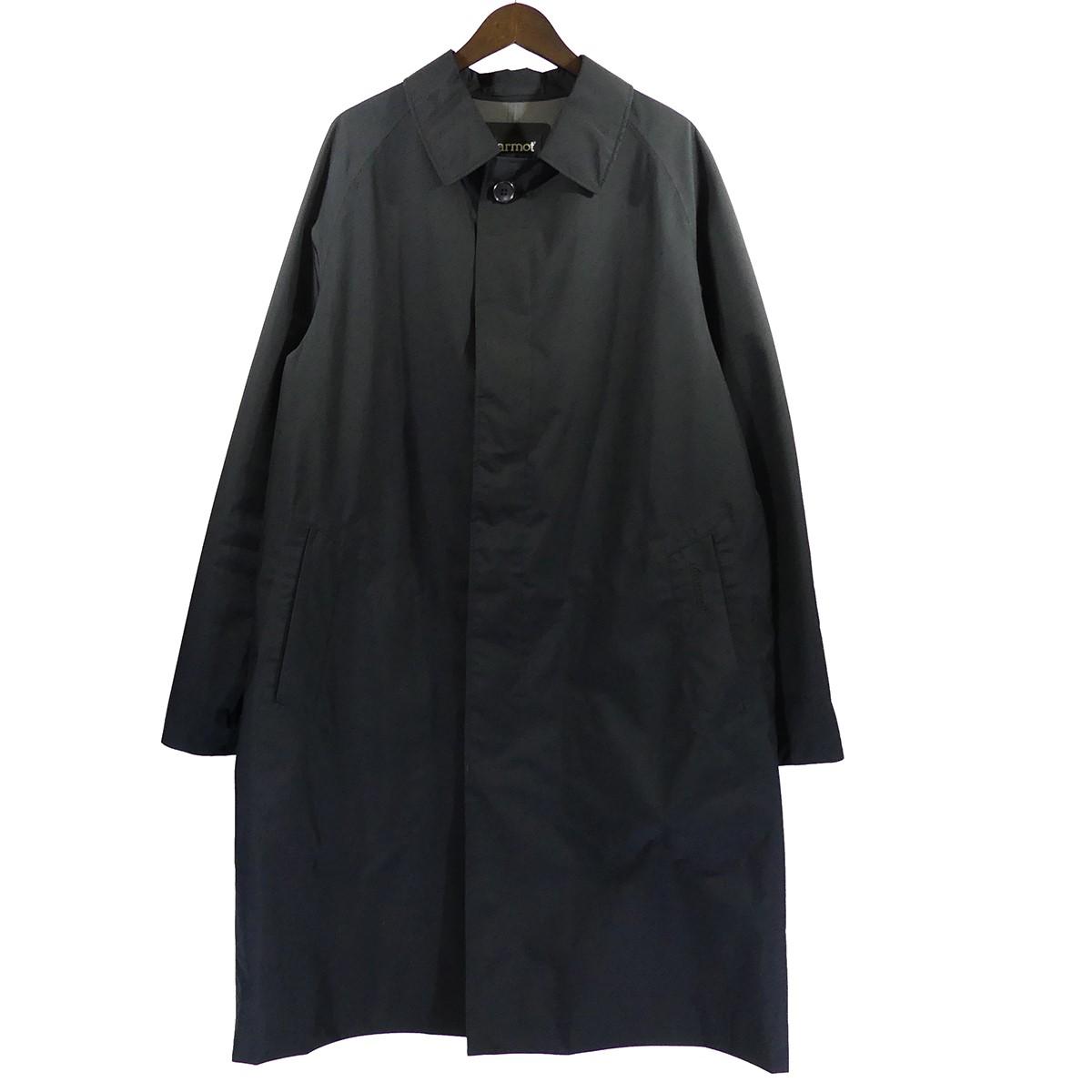 【中古】MarmotSHIPS別注 GORE-TEXステンカラーコート ブラック サイズ:L 【5月11日見直し】