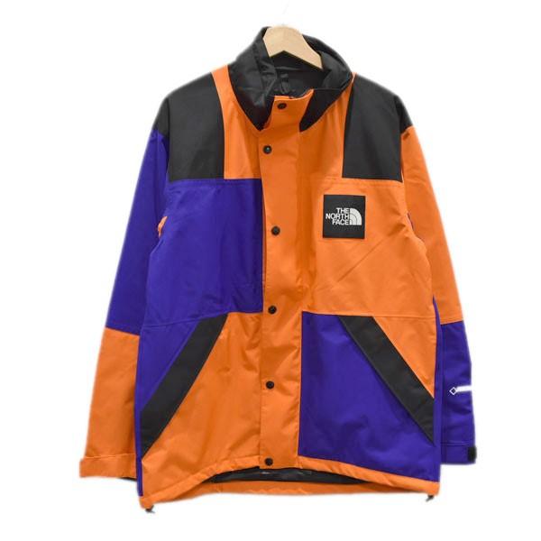 【中古】THE NORTH FACE RAGE GTX SHELL JACKET マウンテンパーカー ブルー×オレンジ サイズ:M 【040520】(ザノースフェイス)
