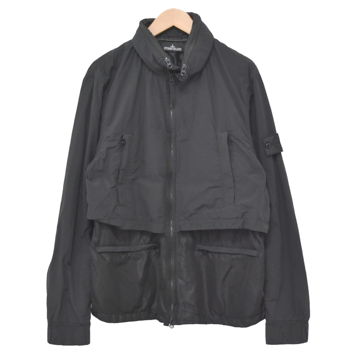 【中古】STONE ISLAND Shadow Project/Naslan Light Double Layer JK ブラック サイズ:XL 【060520】(ストーンアイランド)
