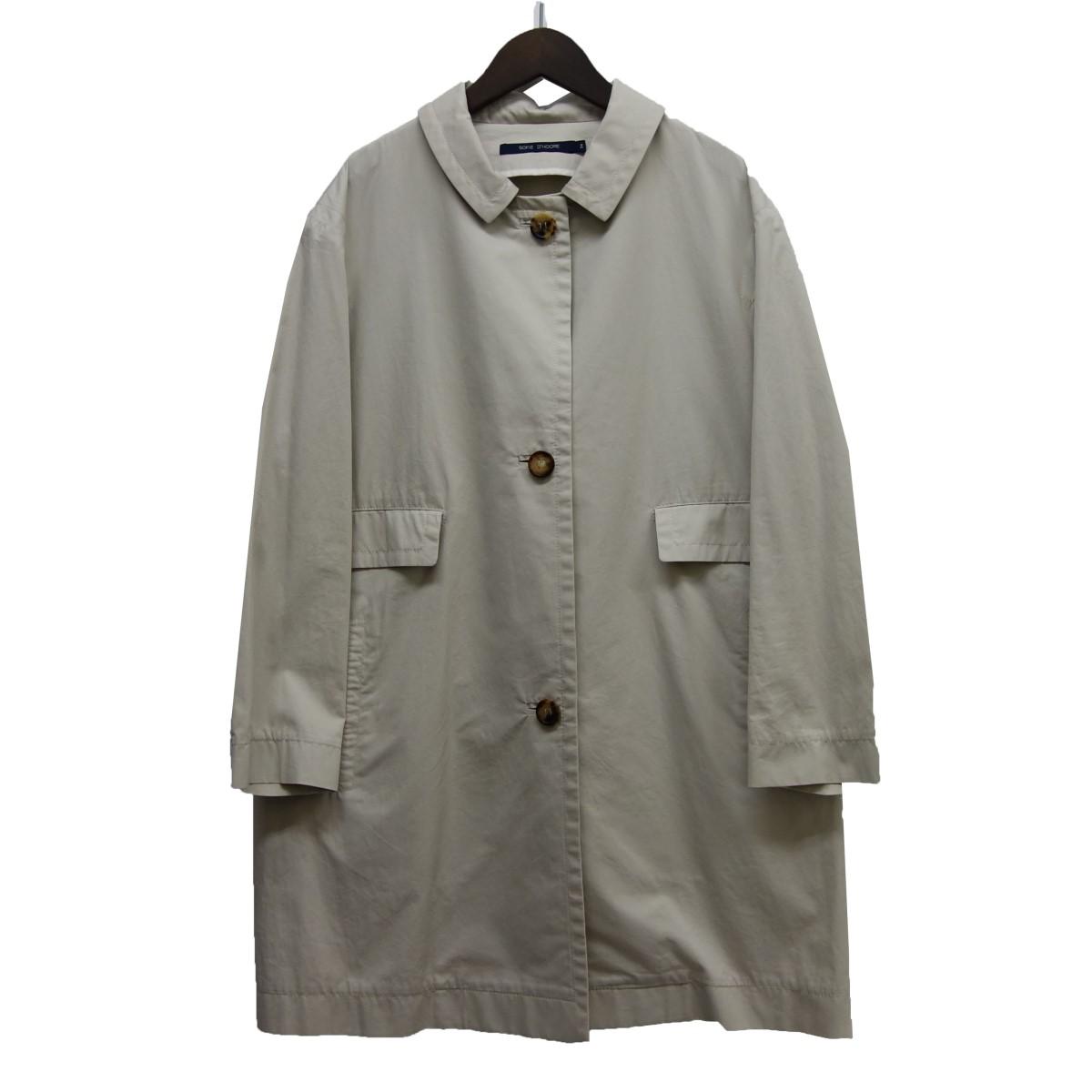 【中古】SOFIE DHOORE ステンカラーコート アイボリー サイズ:36 【060520】(ソフィードール)