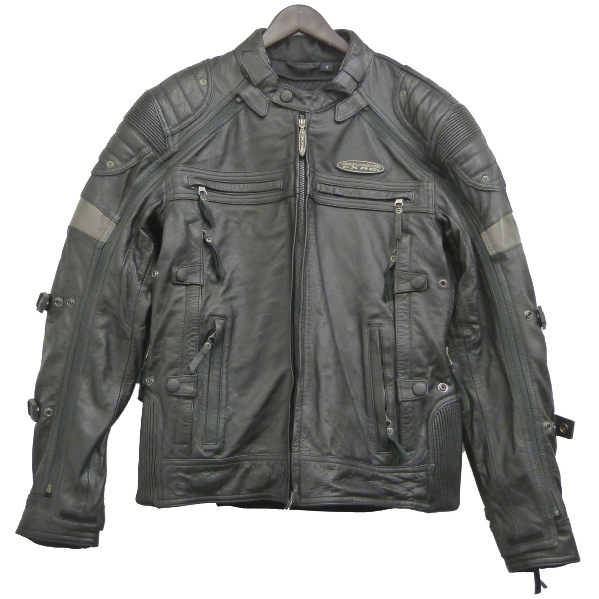 【中古】HARLEY-DAVIDSON 「FXRG Switchback Leather Jacket」レザージャケット ブラック サイズ:S 【060520】(ハーレーダビッドソン)