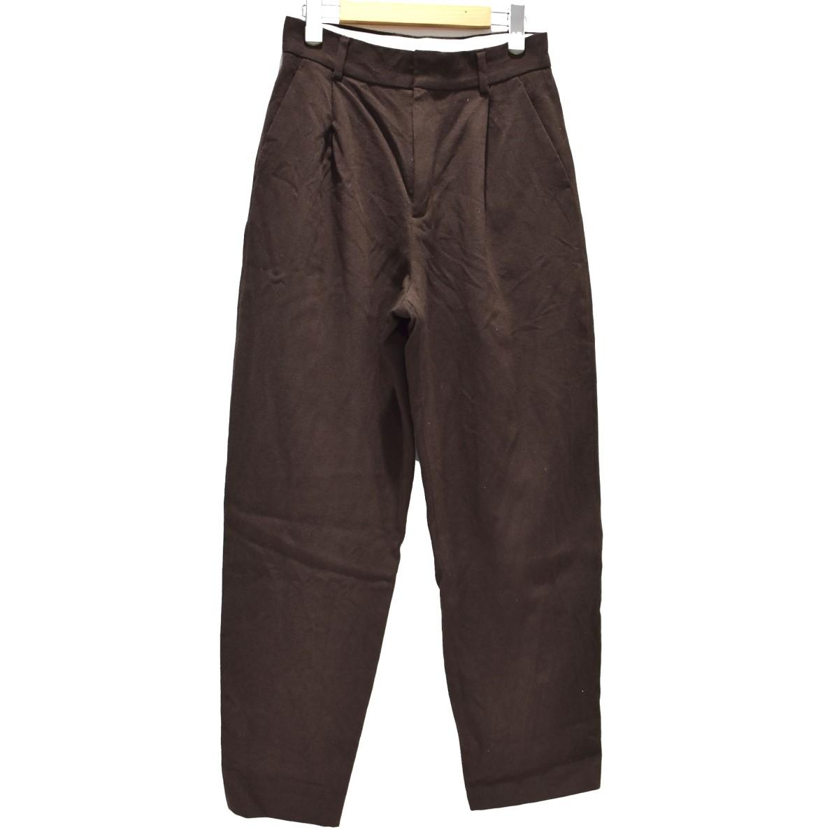 【中古】6(ROKU) BEAUTY&YOUTH KERSEY PANTS ワイドパンツ ブラウン サイズ:38 【060520】(ロク ビューティーアンドユース)