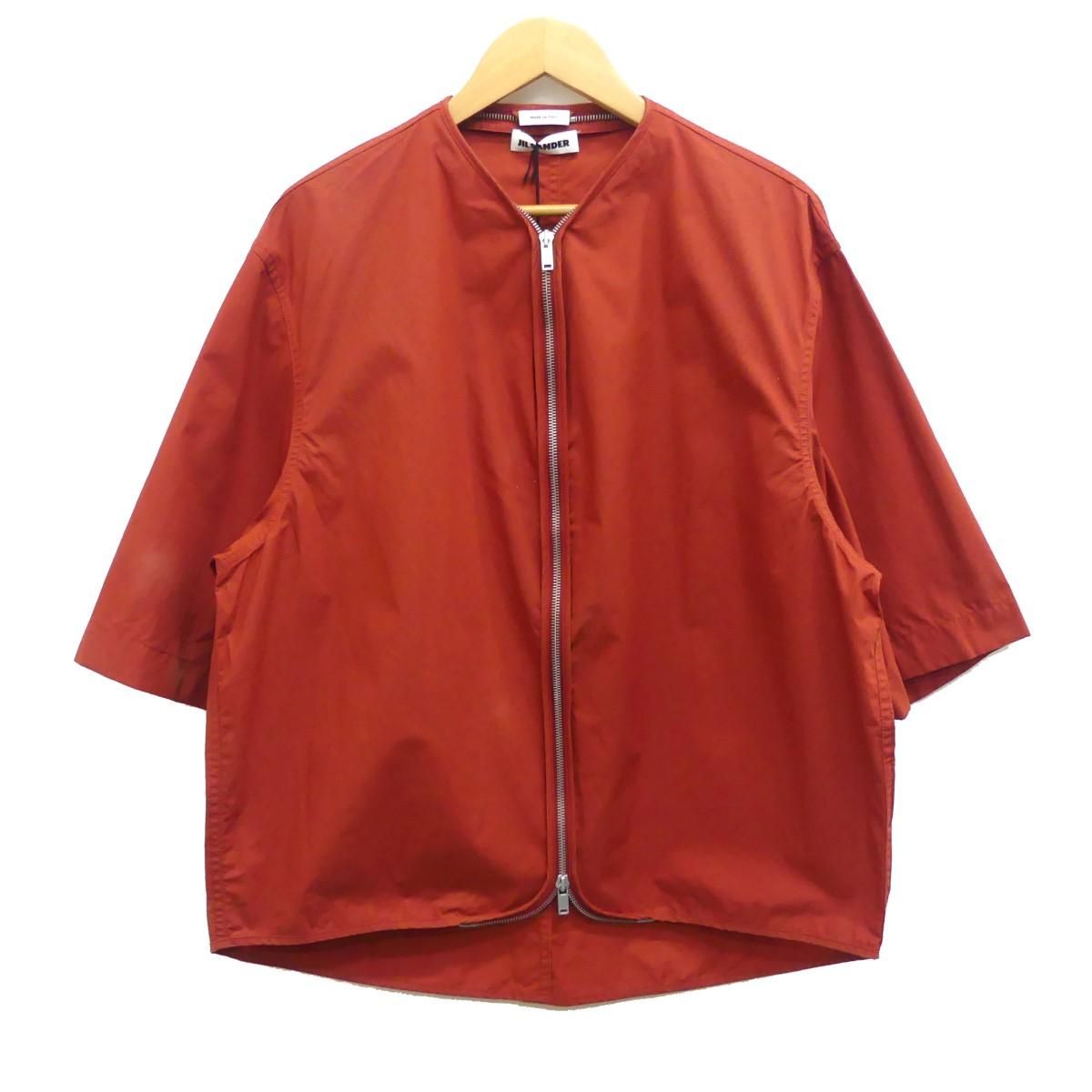 【中古】JIL SANDER Stresa Zipped Blouson ジップアップブルゾン オレンジ サイズ:46 【070520】(ジルサンダー)