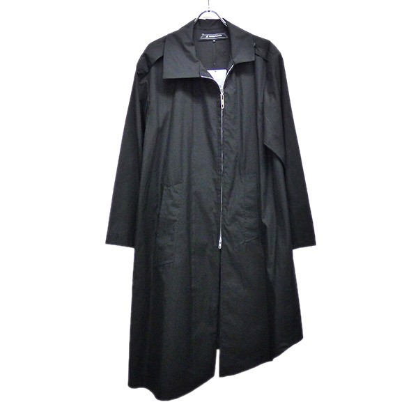 【中古】ANREALAGE 2020SS SIDE ANGLE SHIRTS COAT サイドアングルシャツコート ブラック サイズ:46 【060520】(アンリアレイジ)
