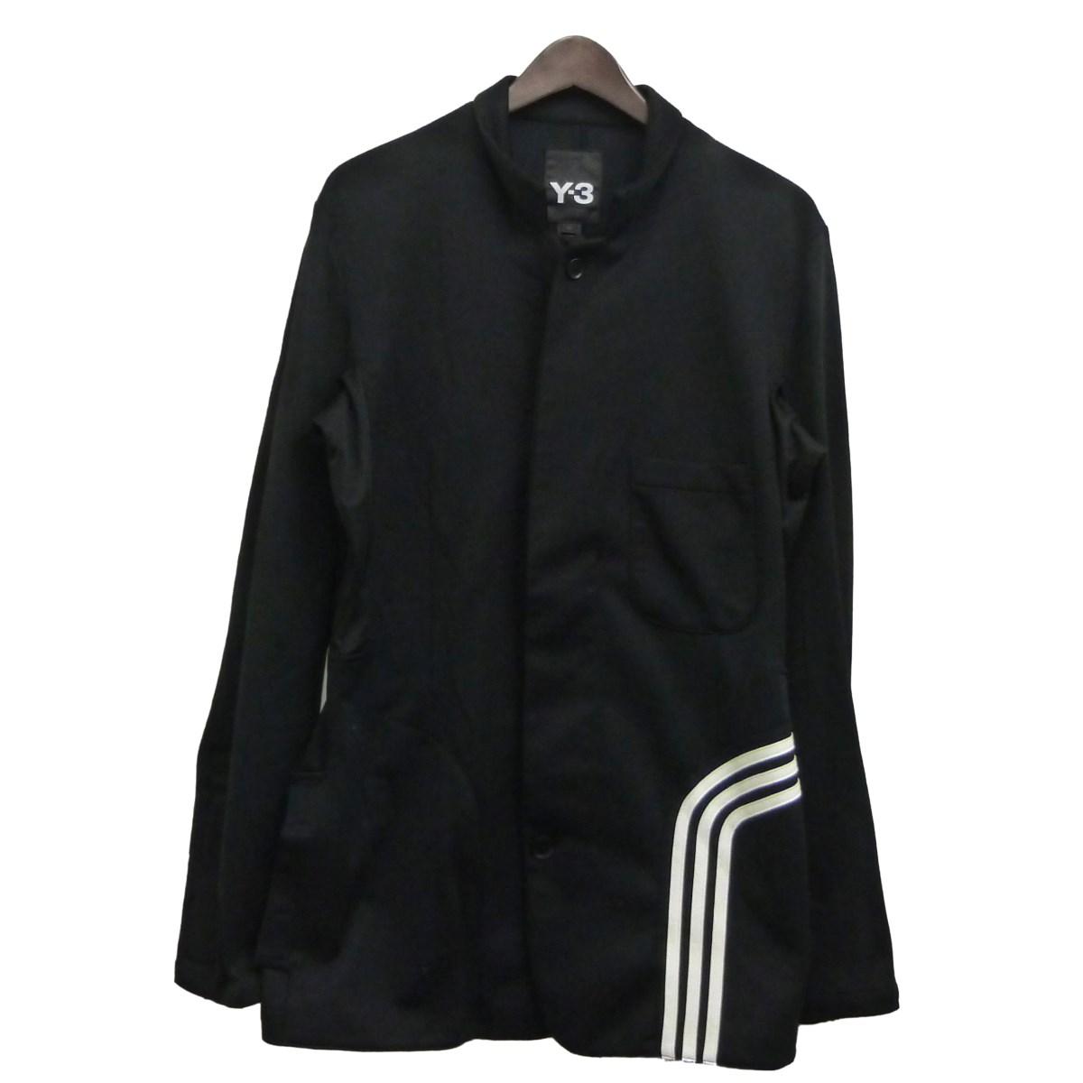 【中古】Y-3 「Fluid Blazer Jacket」ジャケット ブラック×ホワイト サイズ:XS 【070520】(ワイスリー)