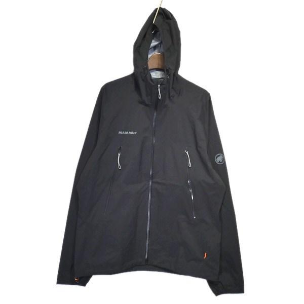 【中古】MAMMUT 「Masao Light HS Hooded Jacket」マウンテンパーカー ブラック サイズ:L 【080520】(マムート)