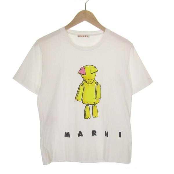 【中古】MARNI 19SS プリントTシャツ ホワイト サイズ:38 【080520】(マルニ)