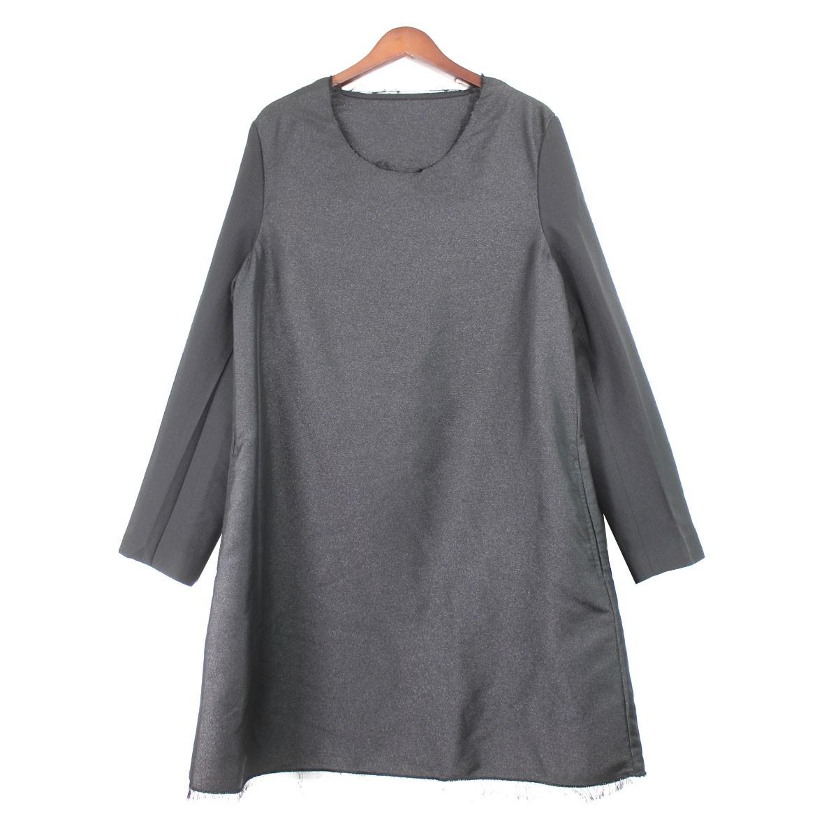 【中古】COMME des GARCONS HOMME PLUS 19AW ポリ縮プルオーバージャケット ブラック サイズ:S 【090520】(コムデギャルソンオムプリュス)