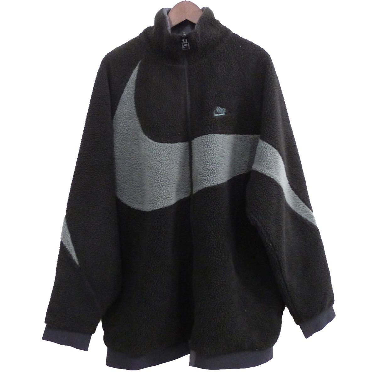 【中古】NIKE 18AW「NSW REVERSIBLE SWOOSH FULL ZIP JACKET」ジャケット ブラック サイズ:M 【110520】(ナイキ)