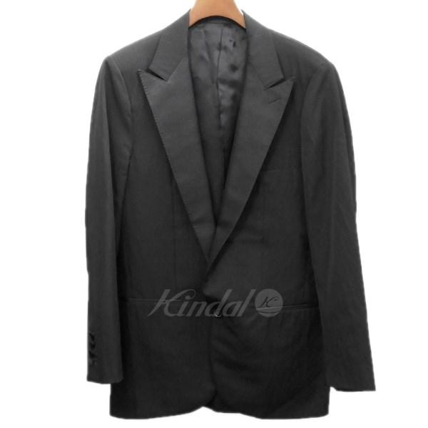 【中古】LANVIN ピークド1ボタンテーラードジャケット ブラック サイズ:46 【110520】(ランバン)