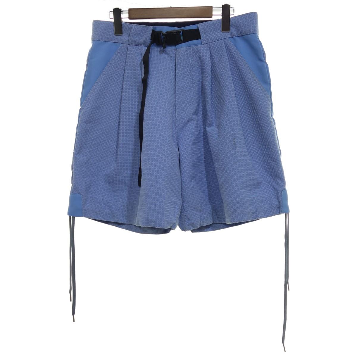 【中古】meanswhile Sashiko Sack Shorts ライトブルー サイズ:M 【120520】(ミーンズワイル)