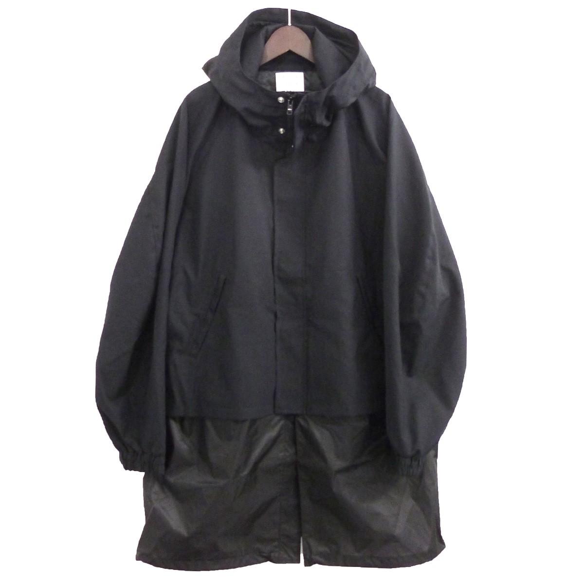 【中古】MR.GENTLEMAN 「LAYERED BLOUSON COAT」レイヤードブルゾンコート ブラック サイズ:L 【120520】(ミスタージェントルマン)