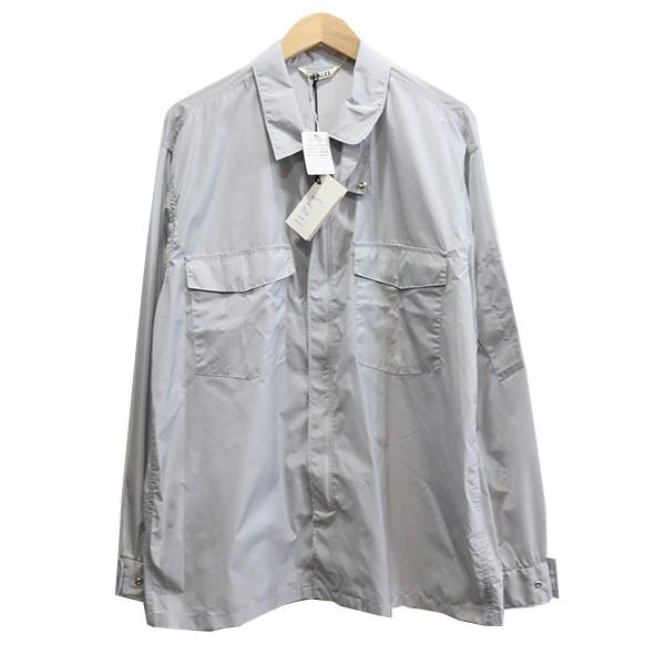 【中古】AURALEE 20SS LIGHT NYLON ZIP SHIRT シャツジャケット ライトブルー サイズ:4 【120520】(オーラリー)