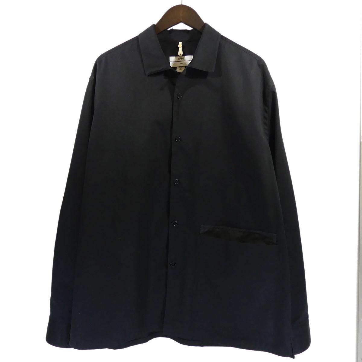 【中古】OAMC (OVER ALL MASTER CLOTH) 2019AW Noise Shirt シャツジャケット ブラック サイズ:S 【120520】(オーエーエムシー)