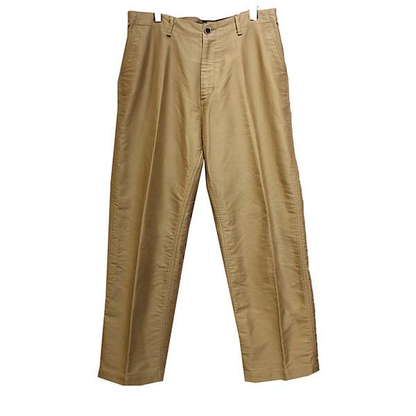 【中古】AURALEE 16AW FINX MOLESKN WIDE PANTS フィンクスモールスキン ワイドパンツ ベージュ サイズ:5 【130520】(オーラリー)