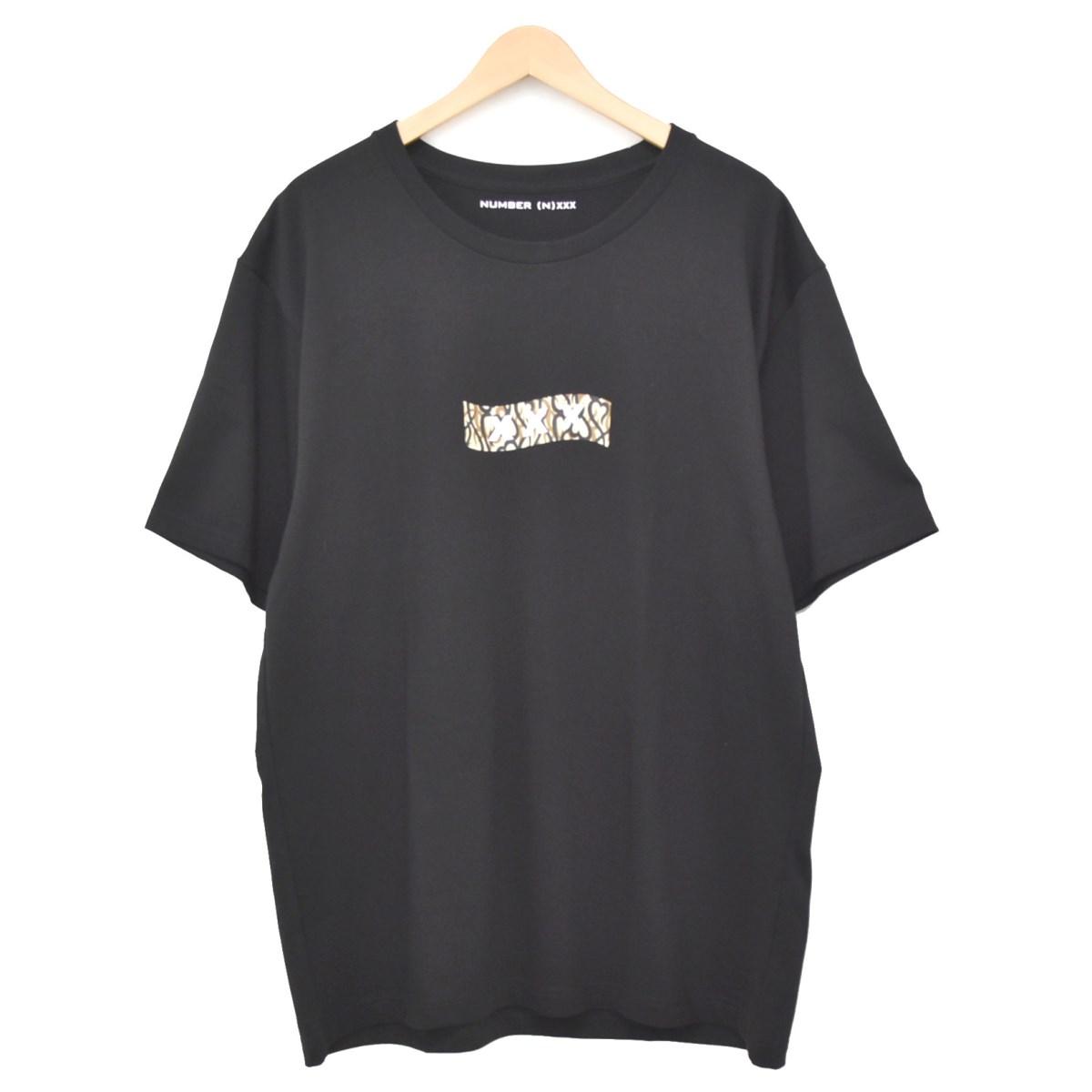 【中古】NUMBER (N)INE×GOD SELECTION XXX グラフィックプリントTシャツ ブラック サイズ:L 【140520】(ナンバーナイン ゴッドセレクショントリプルエックス)