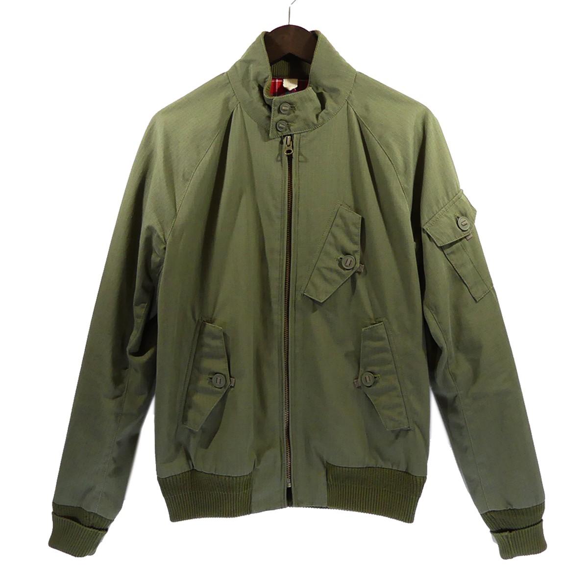 【中古】BARACUTA BLUE LABEL G9 スイングトップジャケット オリーブ サイズ:38 【140520】(バラクータ)