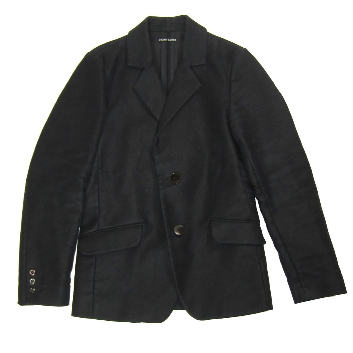 【中古】FRANK LEDER ジャーマンレザージャケット ブラック サイズ:XS 【150520】(フランクリーダー)