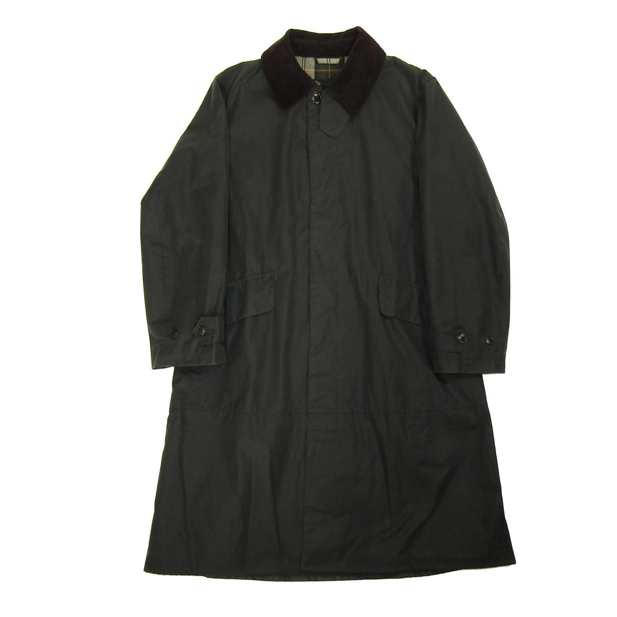 【中古】Barbour SINGLE BREASTED COAT/オイルドコート カーキ サイズ:38 【150520】(バブアー)