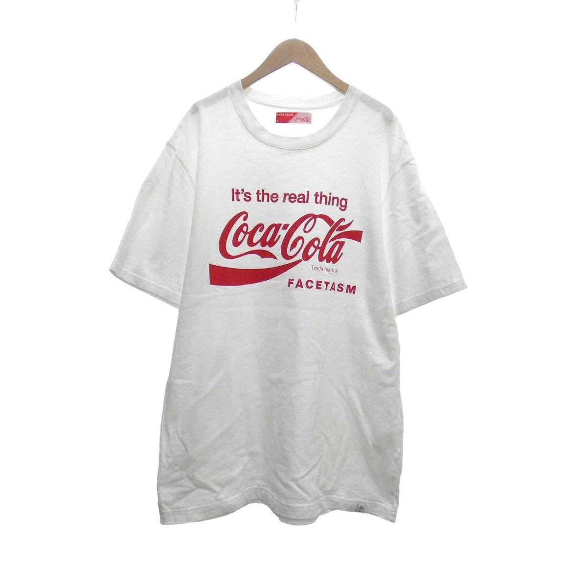 【中古】FACETASM Coca-Cola 半袖Tシャツ ホワイト サイズ:5 【160520】(ファセッタズム)