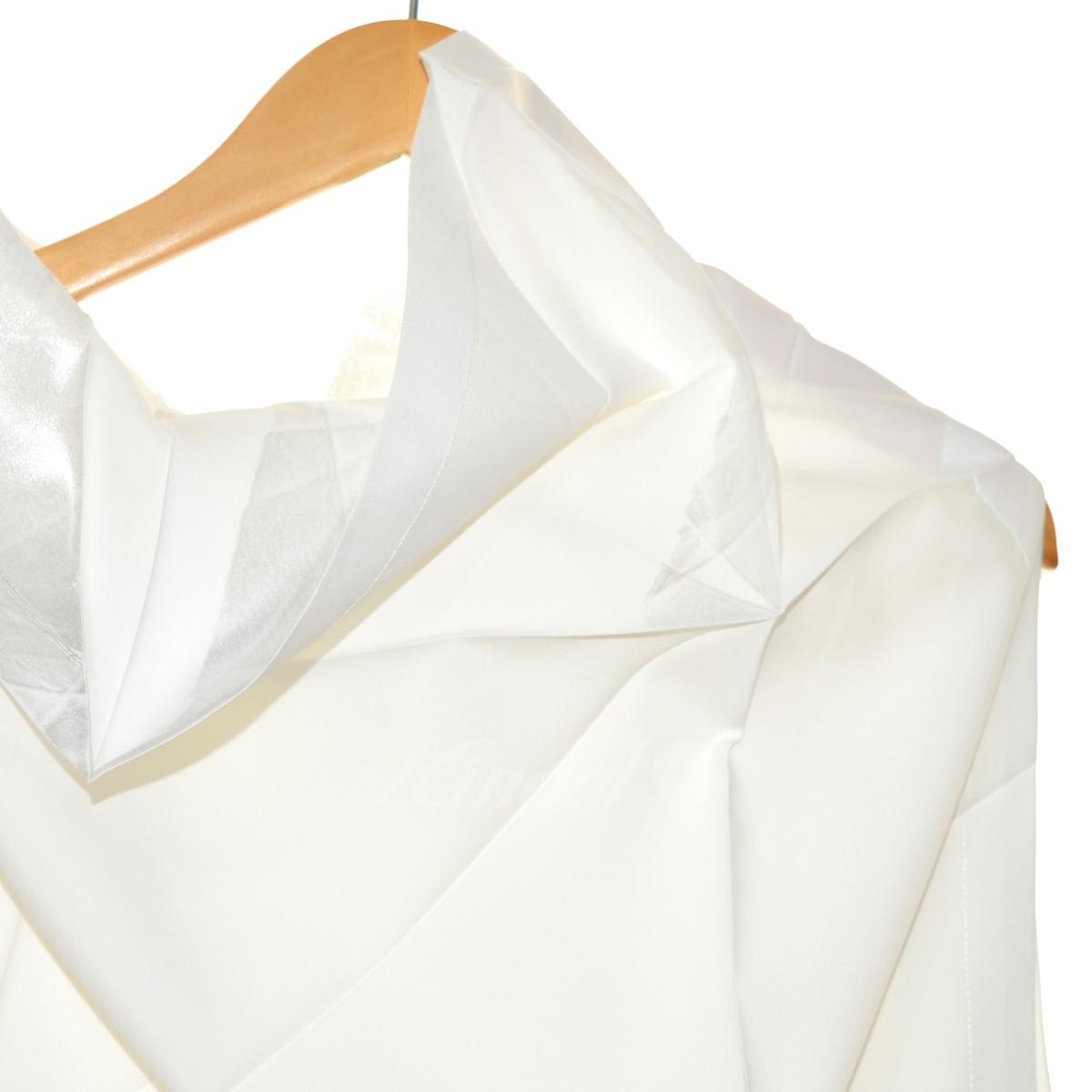 ISSEY MIYAKE 変形半袖シャツ ホワイト サイズ 3190520イッセイミヤケbgf7yY6