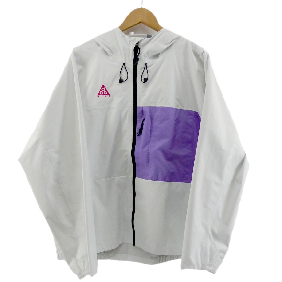 【中古】Nike ACG 2019SS AS M ACG 2.5L PCK JKT ナイロンジャケット ホワイト サイズ:S 【180520】(ナイキエーシージー)