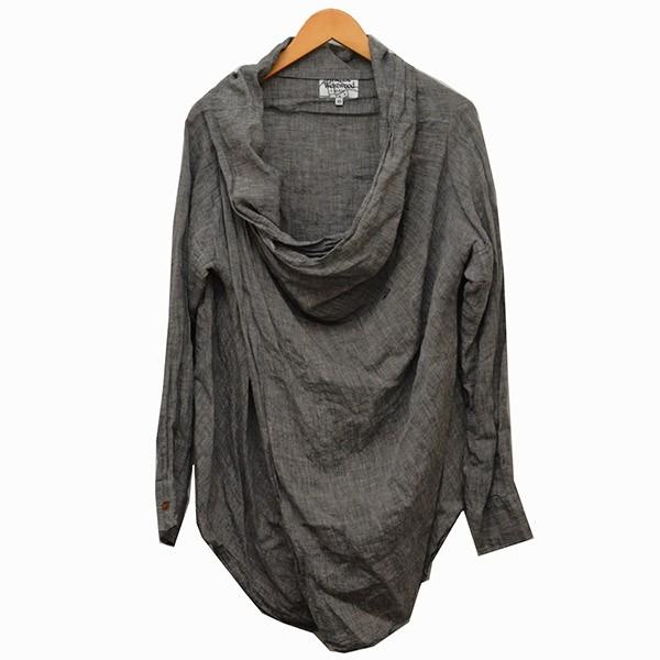 【中古】Vivienne Westwood MAN ドレープ プルオーバーシャツ シャツ グレー サイズ:46 【180520】(ヴィヴィアンウエストウッドマン)