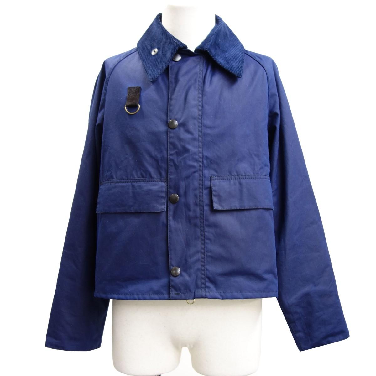 【中古】Barbour 「SPEY JACKET」 スペイオイルドジャケット ネイビー サイズ:XS 【190520】(バブアー)