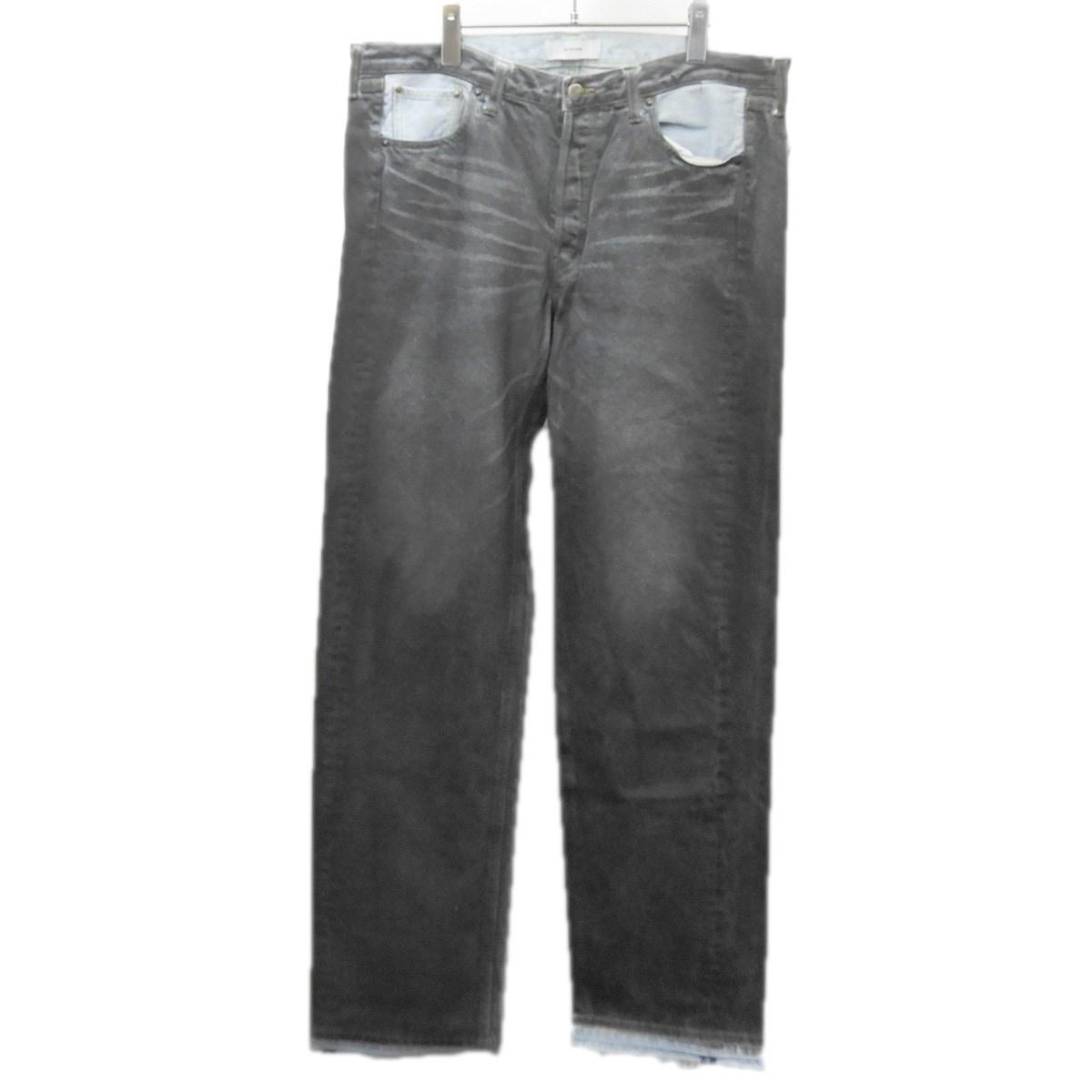 【中古】FACETASM 「COLOUR COATED DENIM PANTS」コーティングデニムパンツ ブラック サイズ:5 【200520】(ファセッタズム)