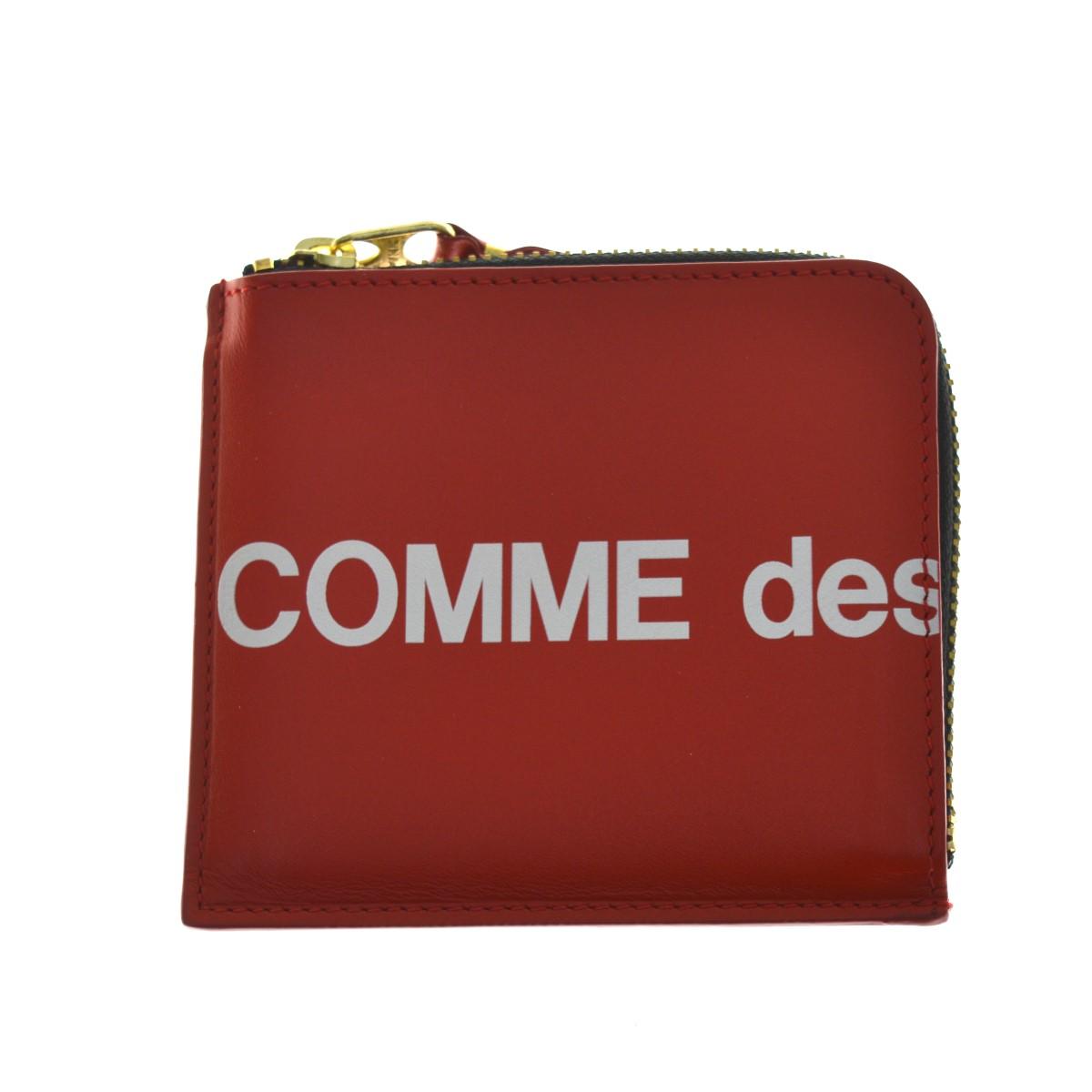 【中古】COMME des GARCONS CDG Huge Logo Wallet 財布 8Z-T031-051-2-1 レッド 【210520】(コムデギャルソン)