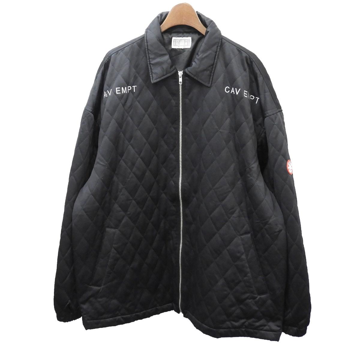 【中古】C.E 「QUILT ZIP JACKET」キルティングジップジャケット ブラック サイズ:L 【220520】(シーイー)