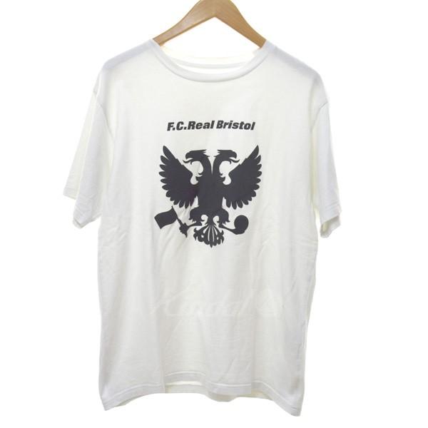 【中古】F.C.R.B. 18SS EAGLE TEE プリントTシャツ ホワイト サイズ:L 【210520】(エフシーアールビー)