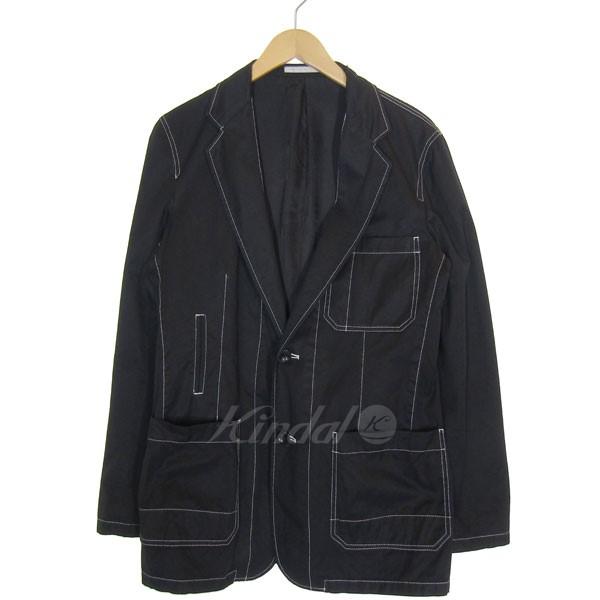 【中古】Ys 2016A/W ステッチテーラードジャケット ブラック サイズ:2 【210520】(ワイズ)