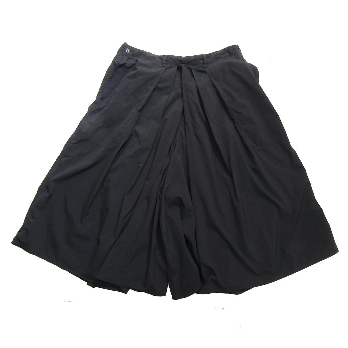 【中古】YOHJI YAMAMOTO pour homme Products Dyed Hakama Pants/製品染め加工ハカマパンツ ブラック サイズ:3 【210520】(ヨウジヤマモトプールオム)