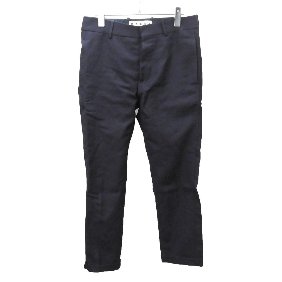 【中古】MARNI スラックスパンツ ネイビー サイズ:44 【250520】(マルニ)