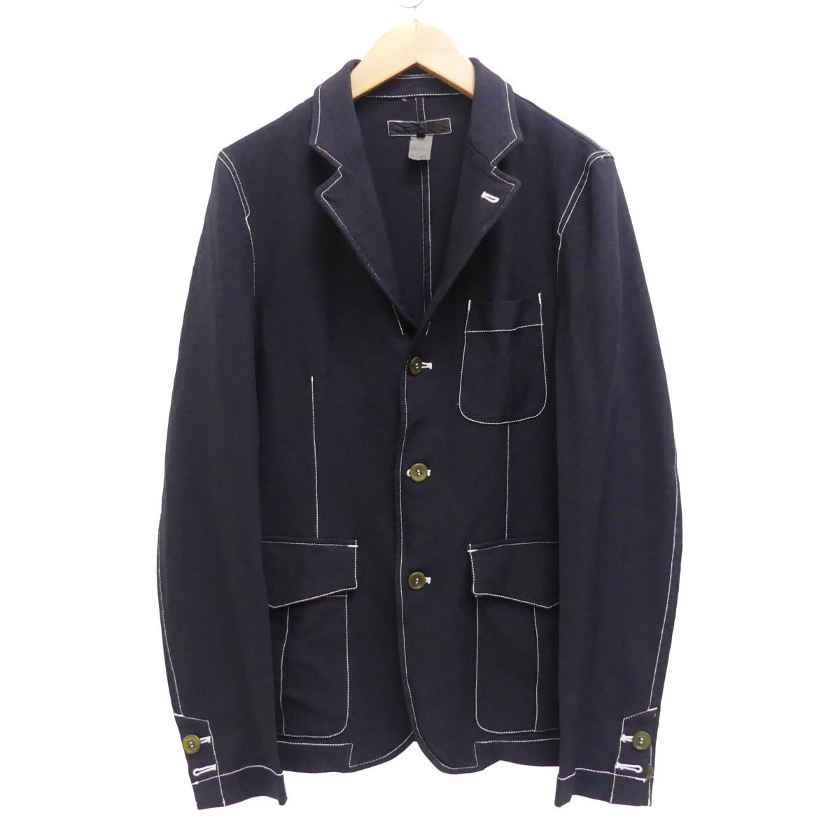 【中古】COMME des GARCONS SHIRT 16AW ポリステッチジャケット ネイビー サイズ:S 【260520】(コムデギャルソンシャツ)