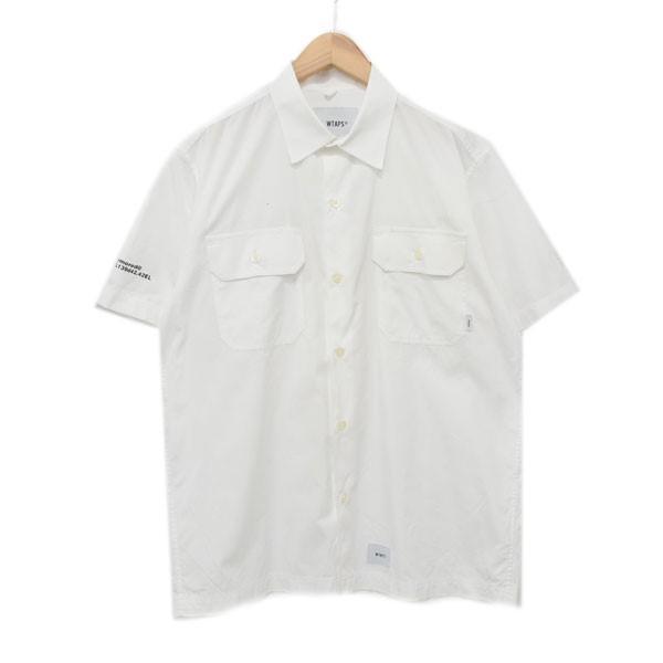 【中古】WTAPS 18SS 半袖ワークシャツ DECK SS/SHIRT ホワイト サイズ:02 【270520】(ダブルタップス)