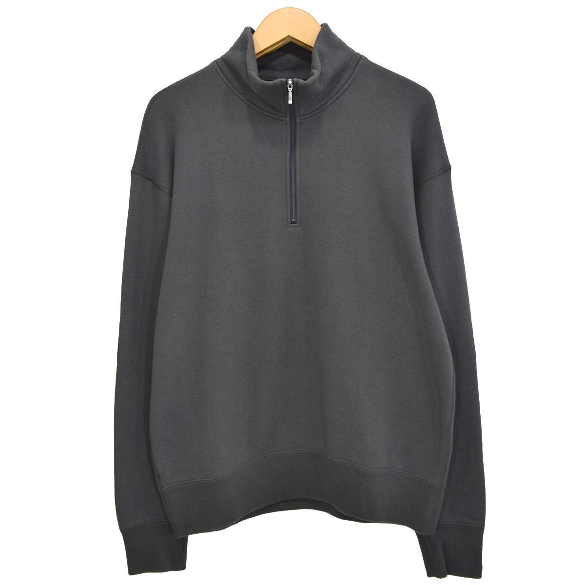 【中古】LOOPWHEELER ×BEAMS JAPAN 別注 吊り裏毛ハーフジップスウェットシャツ 2020SS グレー サイズ:M 【270520】(ループウィラー×ビームスジャパン)
