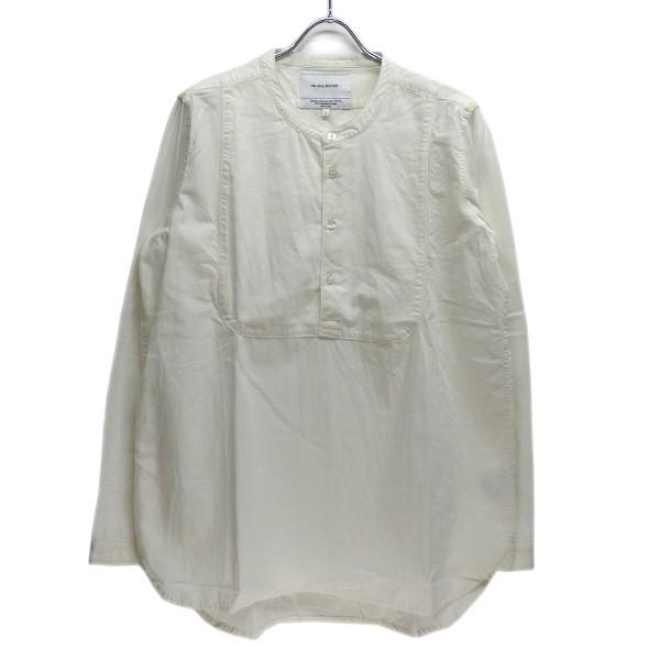 【中古】THE INOUE BROTHERS オックス プルオーバー バンドカラーシャツ ホワイト サイズ:L 【290520】(ザ イノウエブラザーズ)