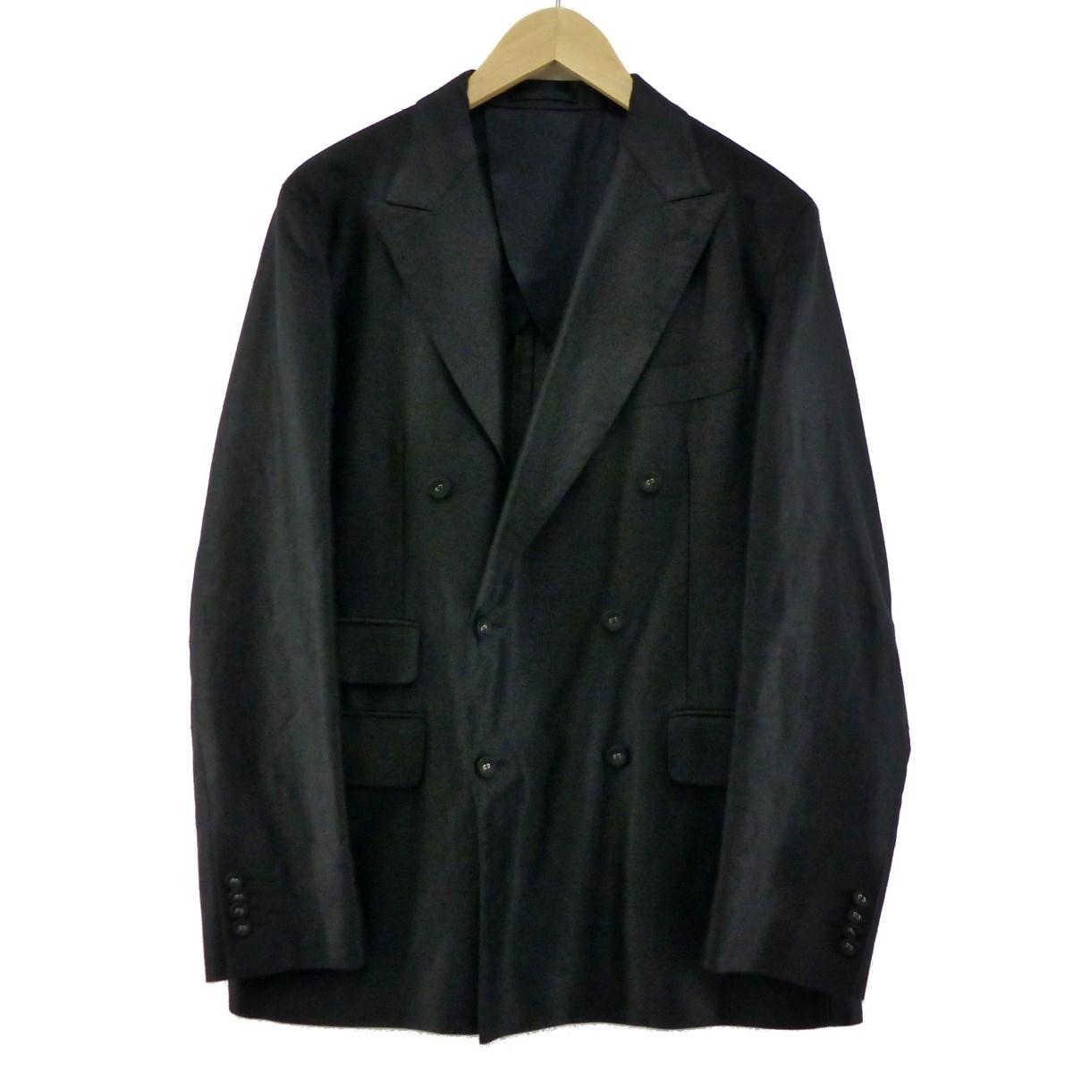 【中古】KABELシルク混モールスキン ダブルテーラードジャケット ブラック サイズ:2 【6月26日見直し】