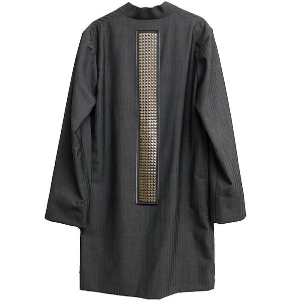 【中古】COMME des GARCONS HOMME PLUS マオカラースタッズデザインジャケット グレー サイズ:S 【010620】(コムデギャルソンオムプリュス)