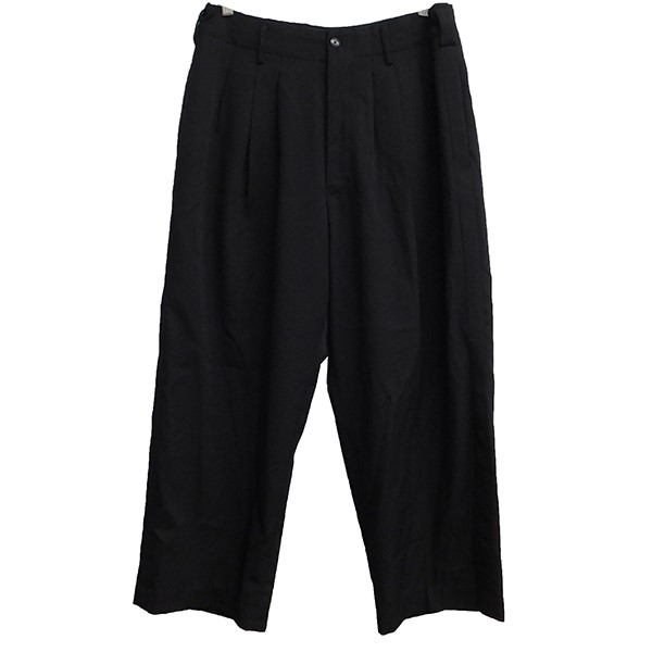 【中古】YOHJI YAMAMOTO pour homme 2016SS 1991AW REPLICAラインパンツ ブラック サイズ:3 【010620】(ヨウジヤマモトプールオム)