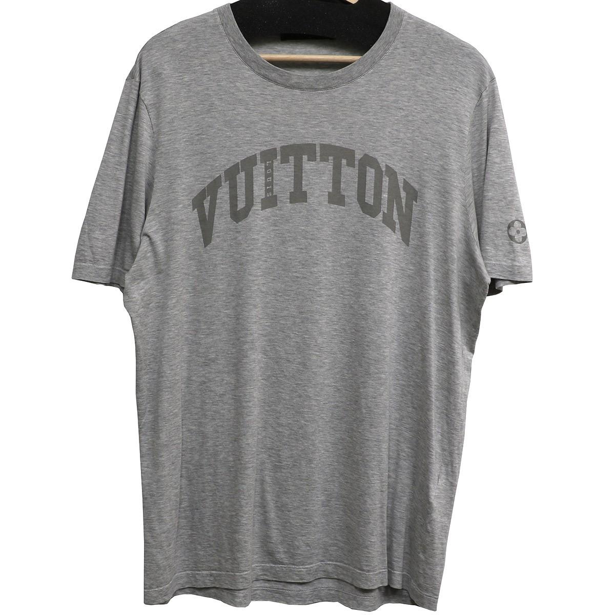 【中古】LOUIS VUITTON 12AW アーチロゴプリントTシャツ グレー サイズ:L 【020620】(ルイヴィトン)