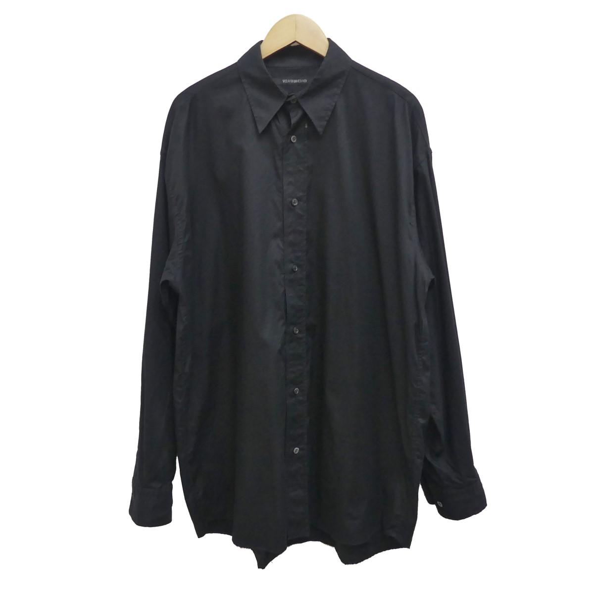 【中古】DRESSEDUNDRESSED 19SS ack Printed Oversized Shirt バックプリントシャツ ブラック サイズ:2 【030620】(ドレスドアンドレスド)
