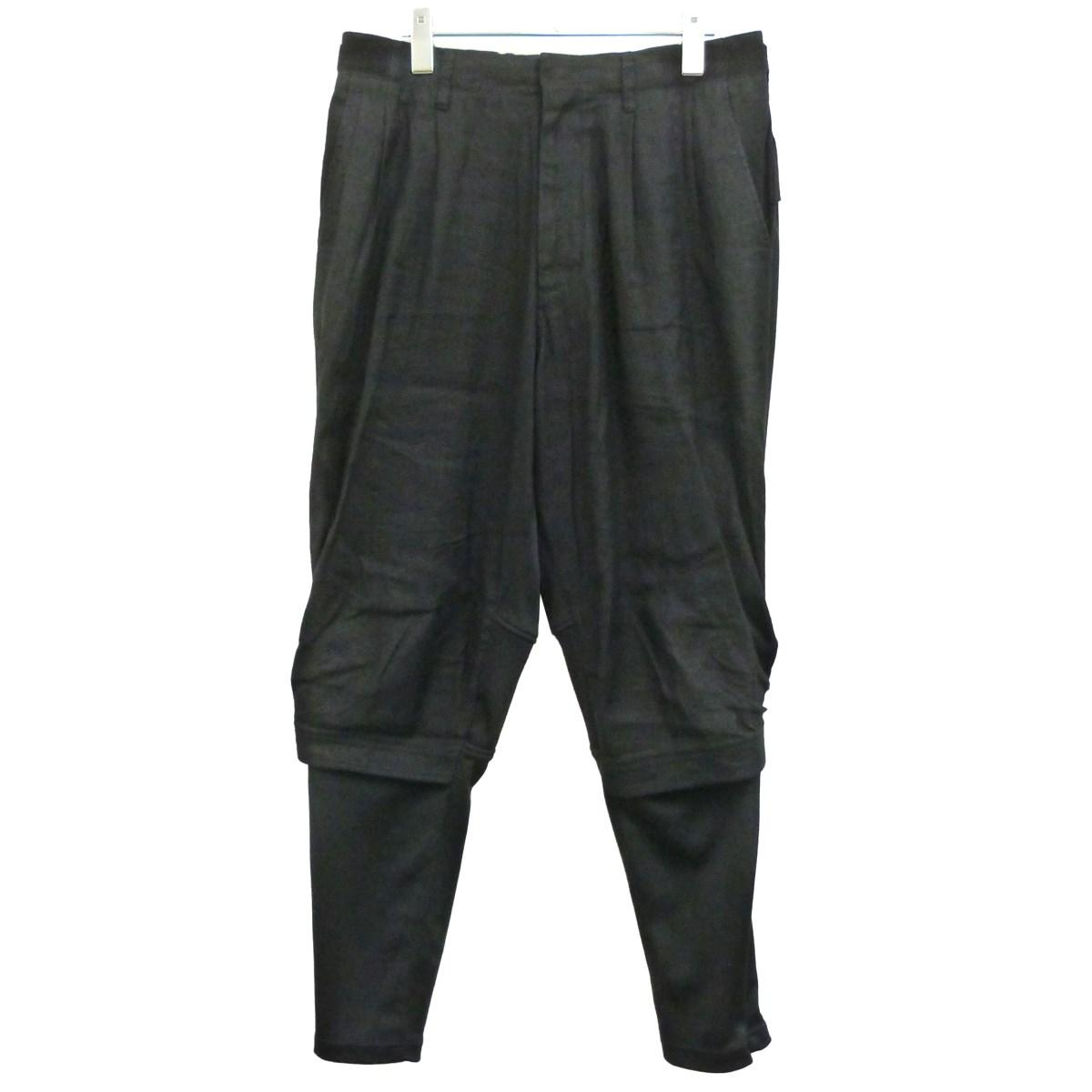 【中古】Y-3 19SS「M PAPER COTTON MAT MIX PANTS」パンツ ブラック サイズ:M 【040620】(ワイスリー)
