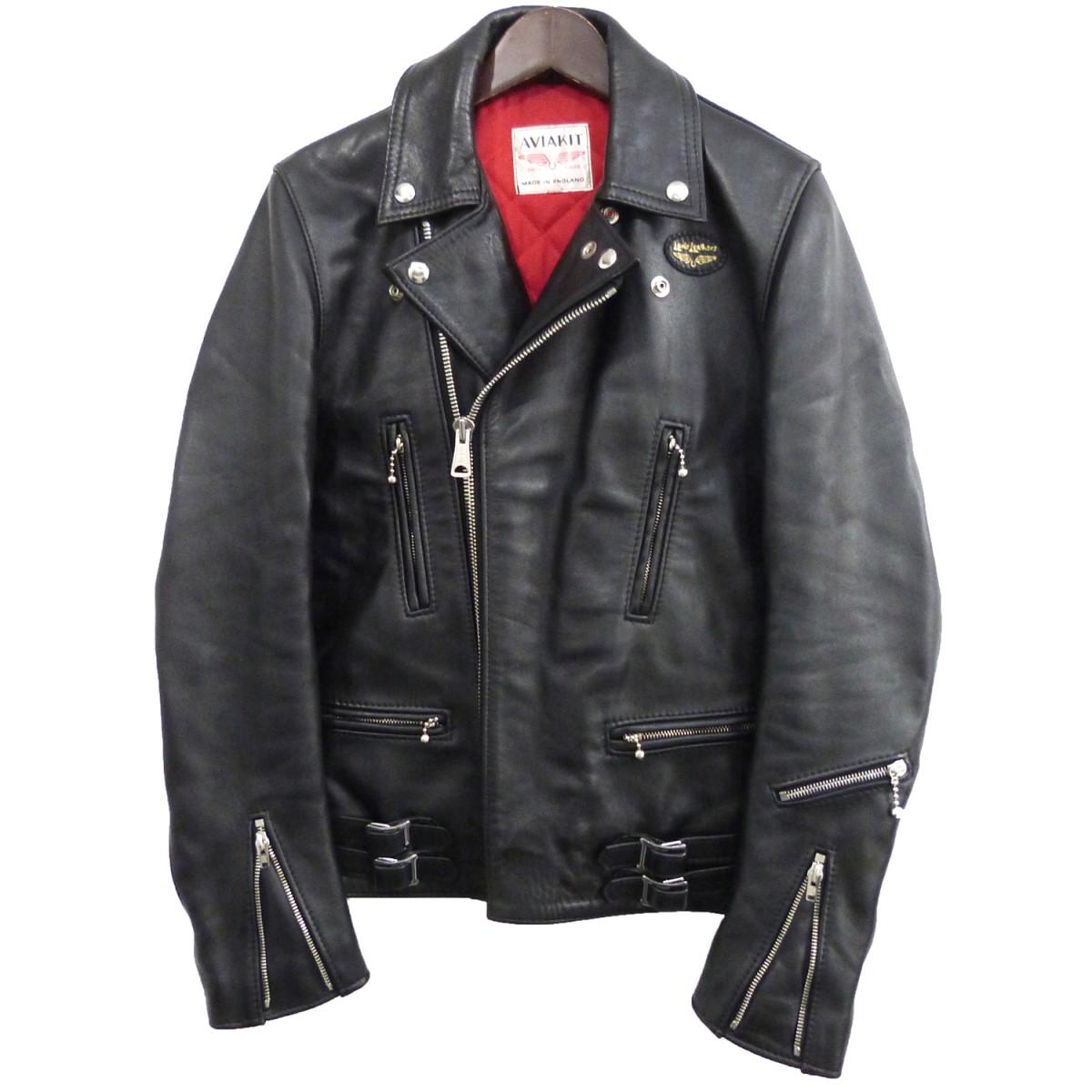【中古】Lewis Leathers 「391 LIGHTNING」ダブルライダースジャケット ブラック サイズ:34 【050620】(ルイスレザー)