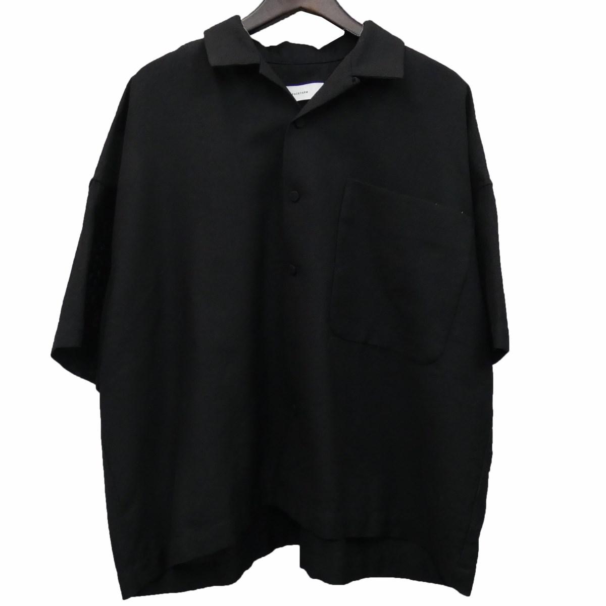 【中古】FACETASM 「WOOL MESH SHORT SLEEVE SHIRT」半袖シャツ ブラック サイズ:5 【050620】(ファセッタズム)