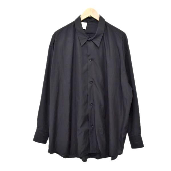 【中古】N.HOOLYWOOD ビッグシルエットシャツ 192-SH08-034 pieces ブラック サイズ:36 【060620】(エヌハリウッド)